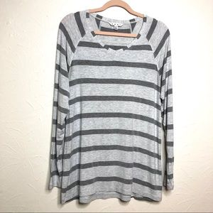 CAbi 940 striped long sleeve tee